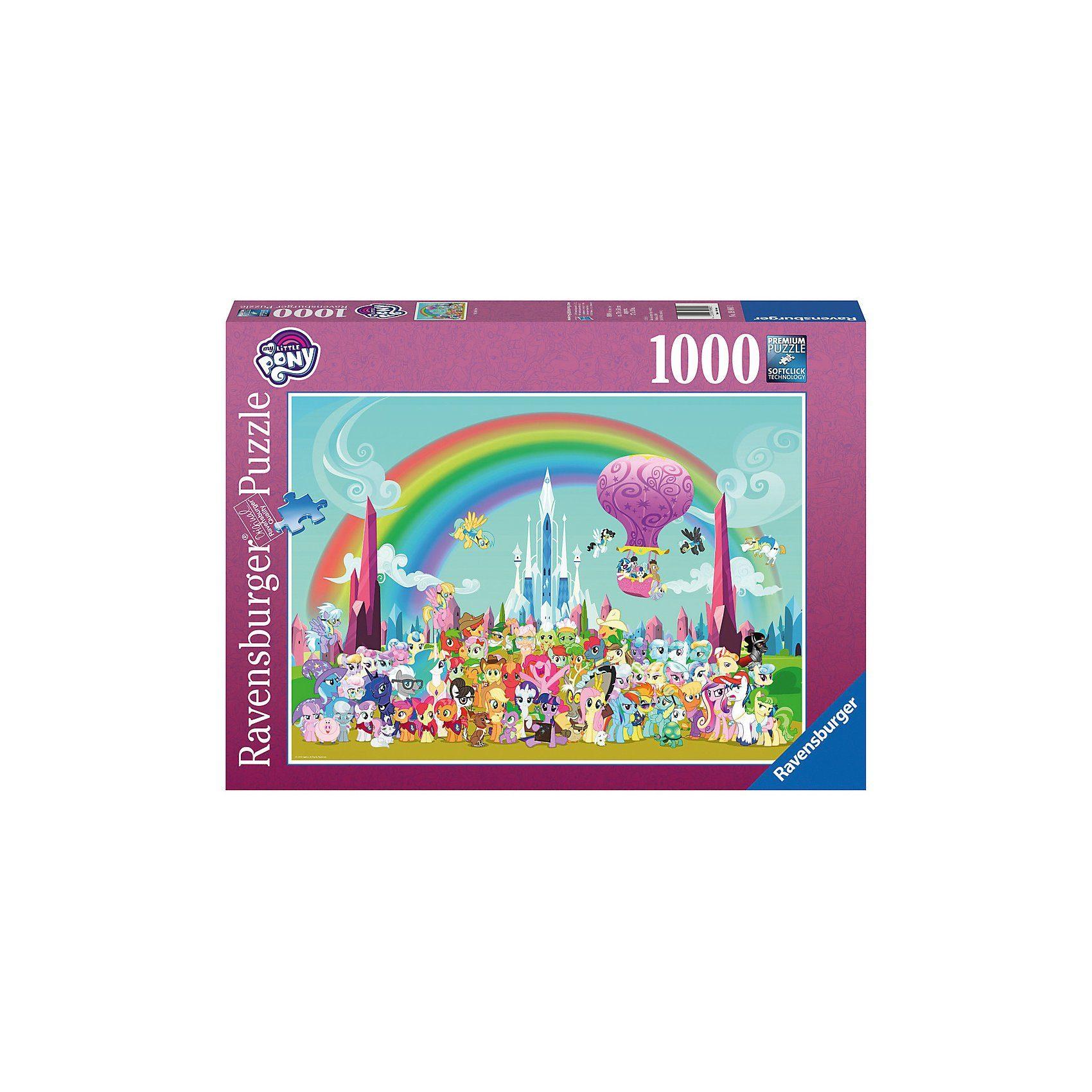 Ravensburger Puzzle 1000 Teile My little Pony unterm Regenbogen