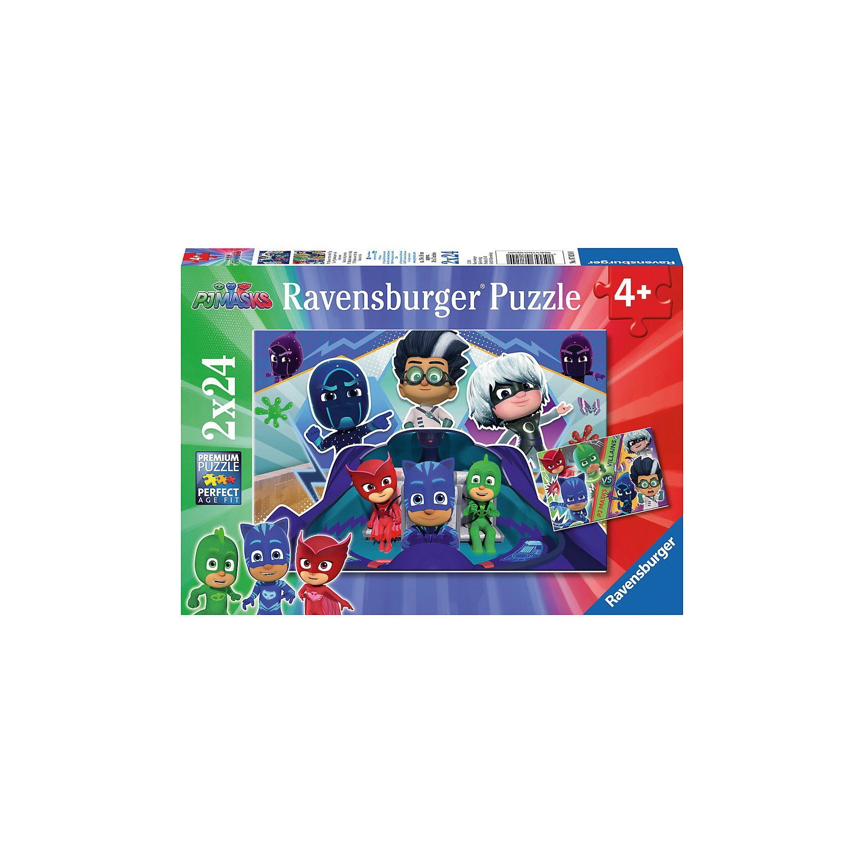 Ravensburger Puzzleset 2 x 24 Teile PJ Masks retten den Tag