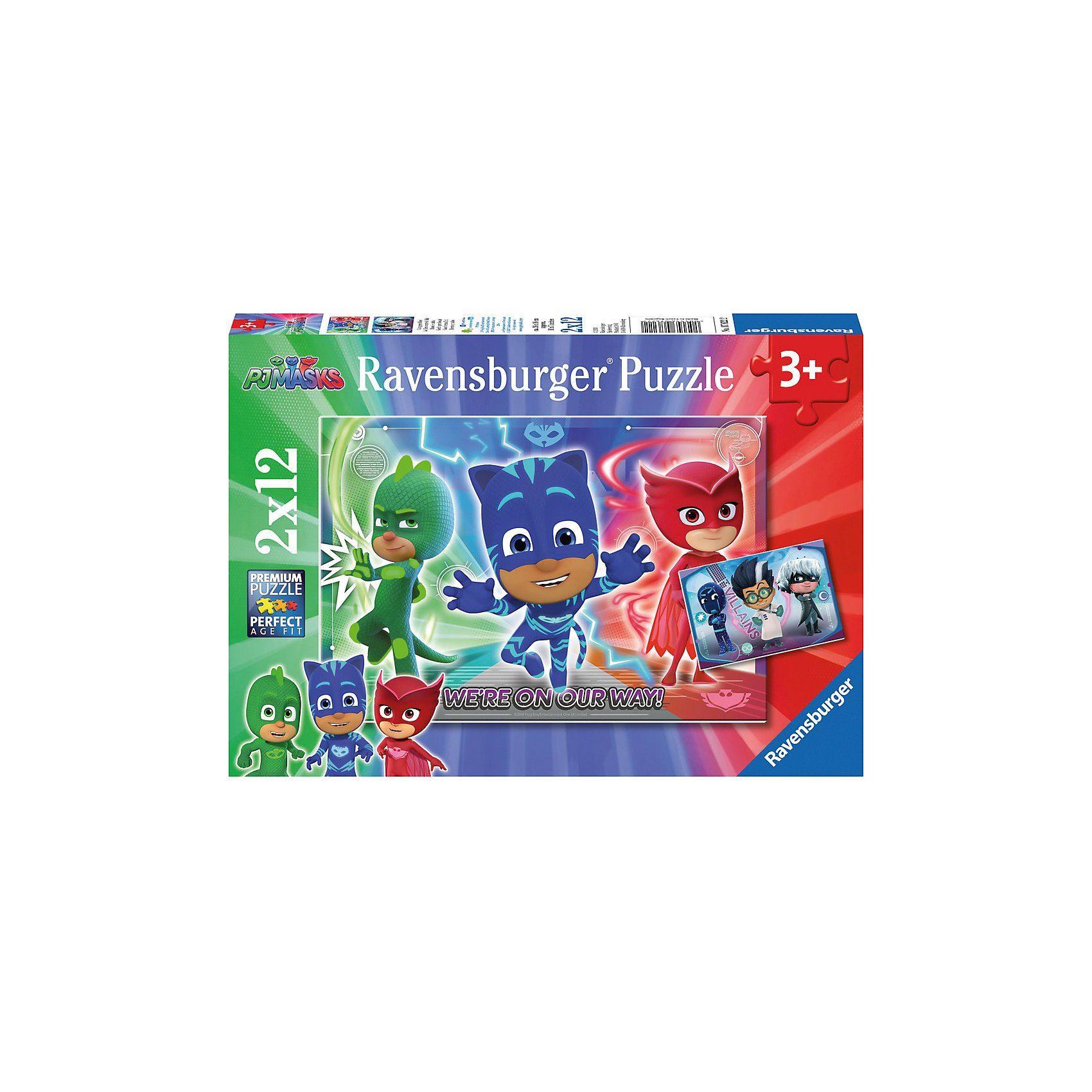 Ravensburger Puzzleset 2 x 12 Teile PJ Masks Gut gegen Böse