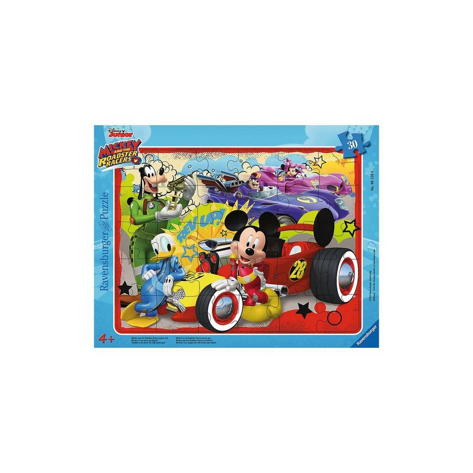 Ravensburger Rahmenpuzzle 30 Teile Mickey und die flinken Flitzer ...