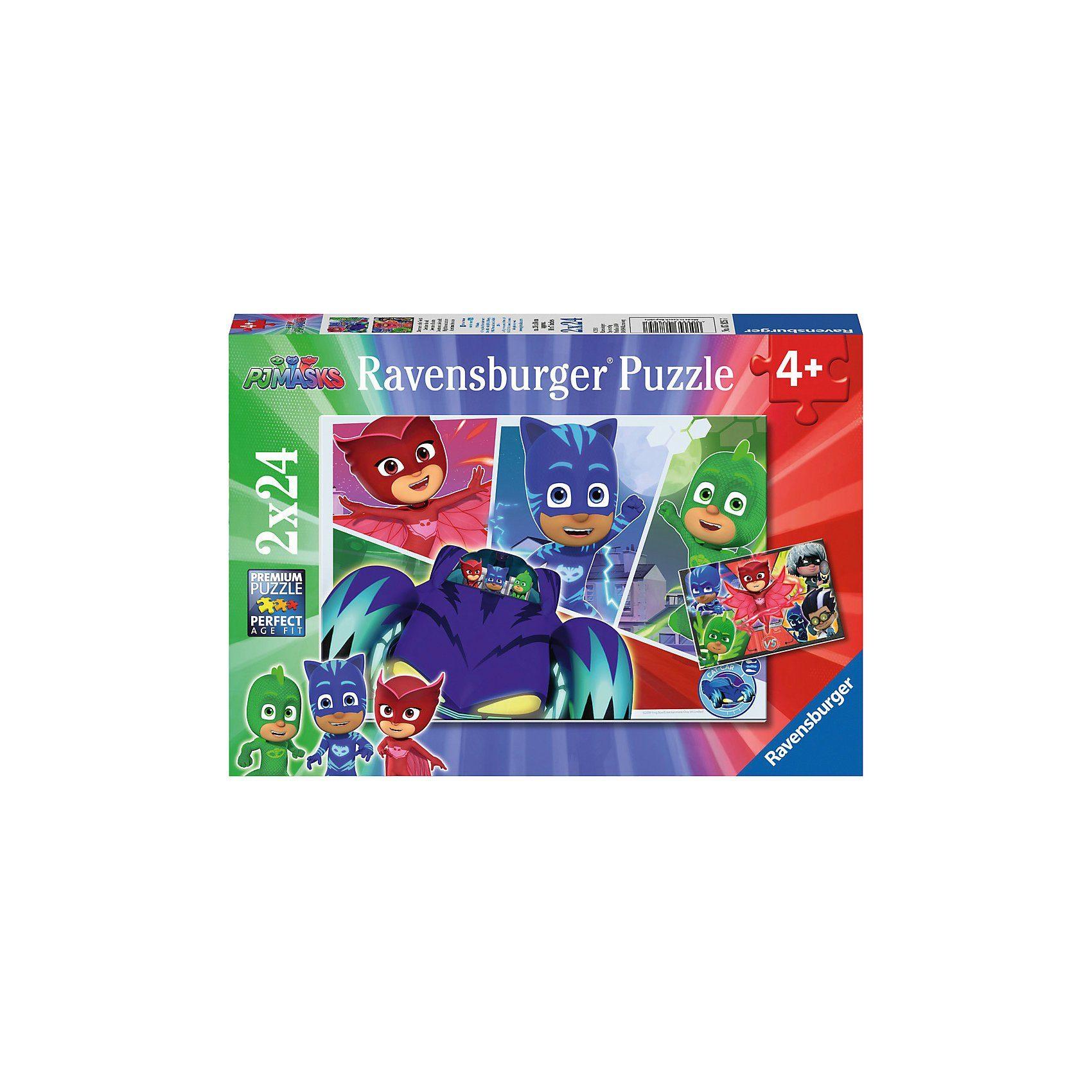 Ravensburger Puzzleset 2 x 24 Teile PJ Masks Abenteuer in der Nacht