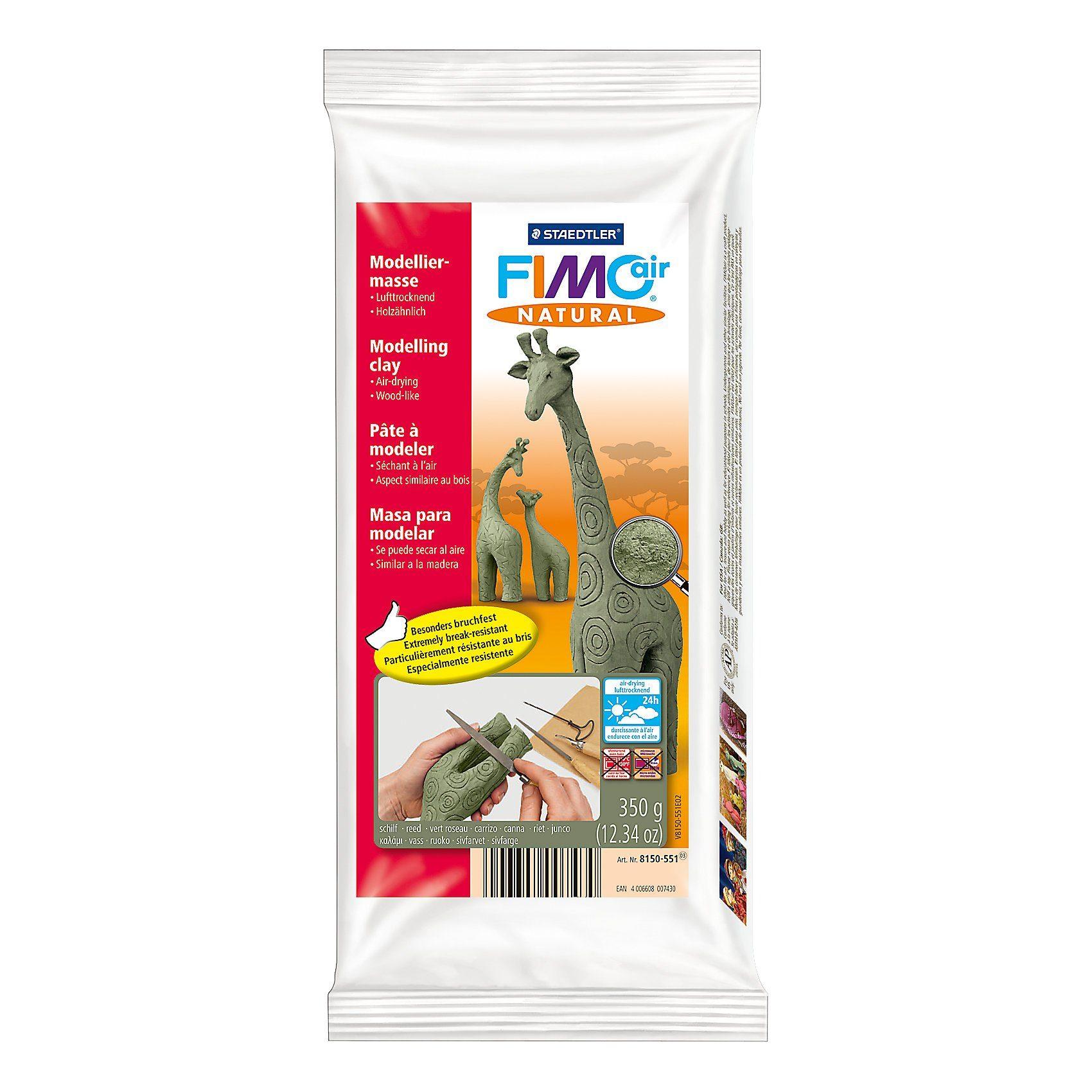 FIMO air natural Lufttrocknende Modelliermasse holzähnlich schilf