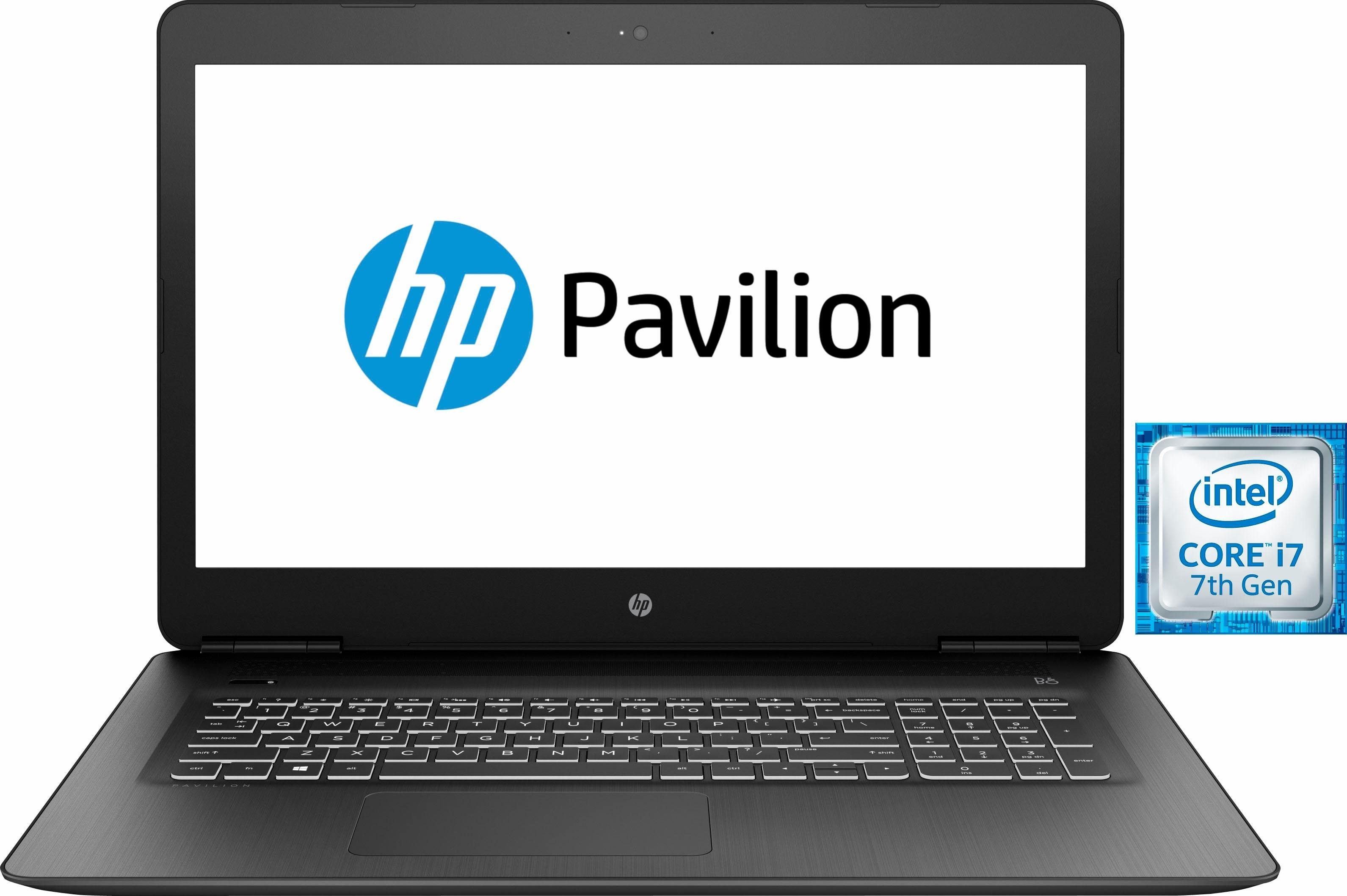 HP Pavilion Power 17-ab320ng Notebook (43,9 cm/17,3 Zoll, Intel Core i7, 1000 GB HDD, 256 GB SSD)