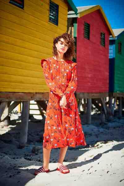 Tom Tailor Denim Sommerkleid mit Allover-Print