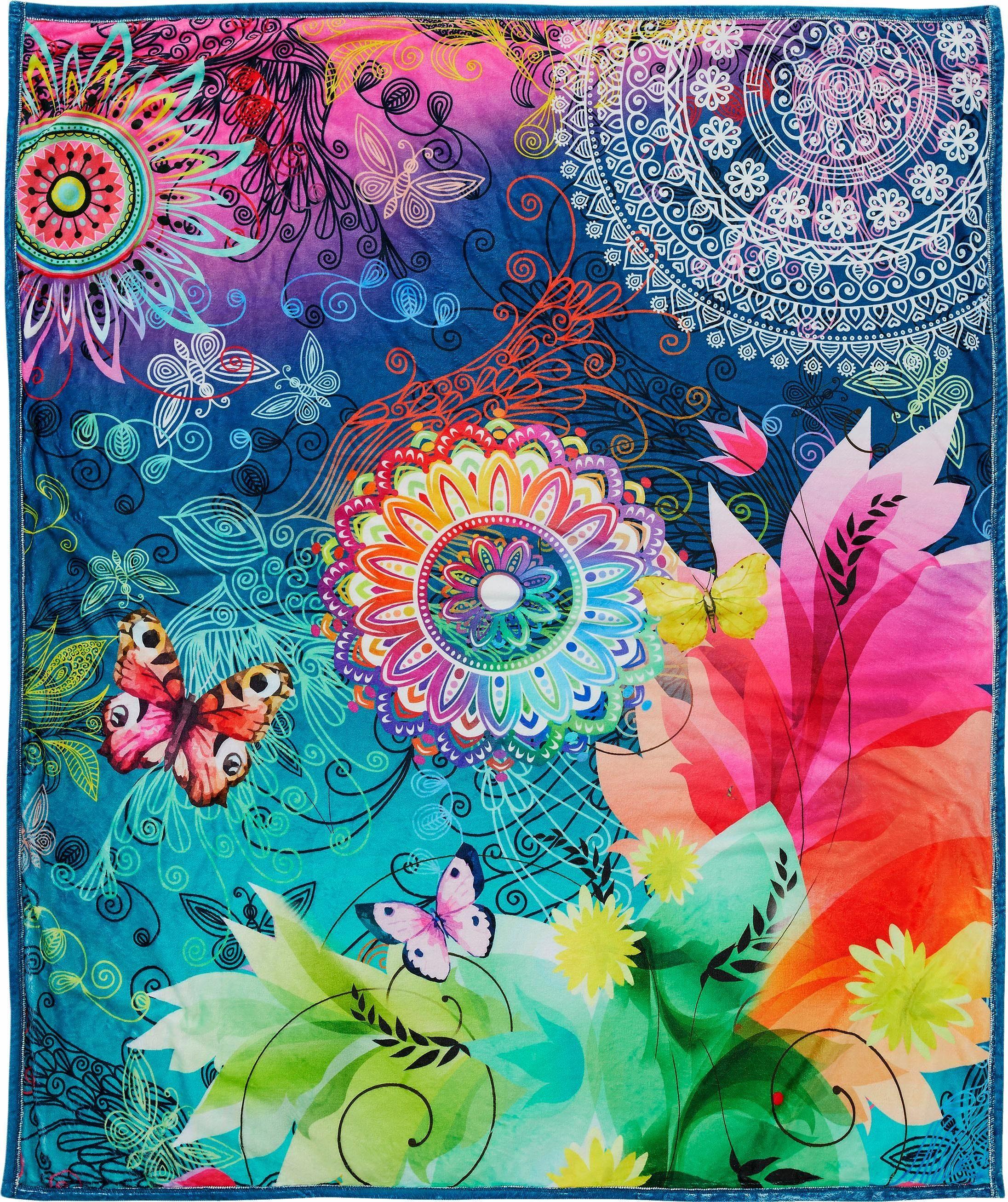 Wohndecke »Parada«, hip, mit tollem Mandala Motiv