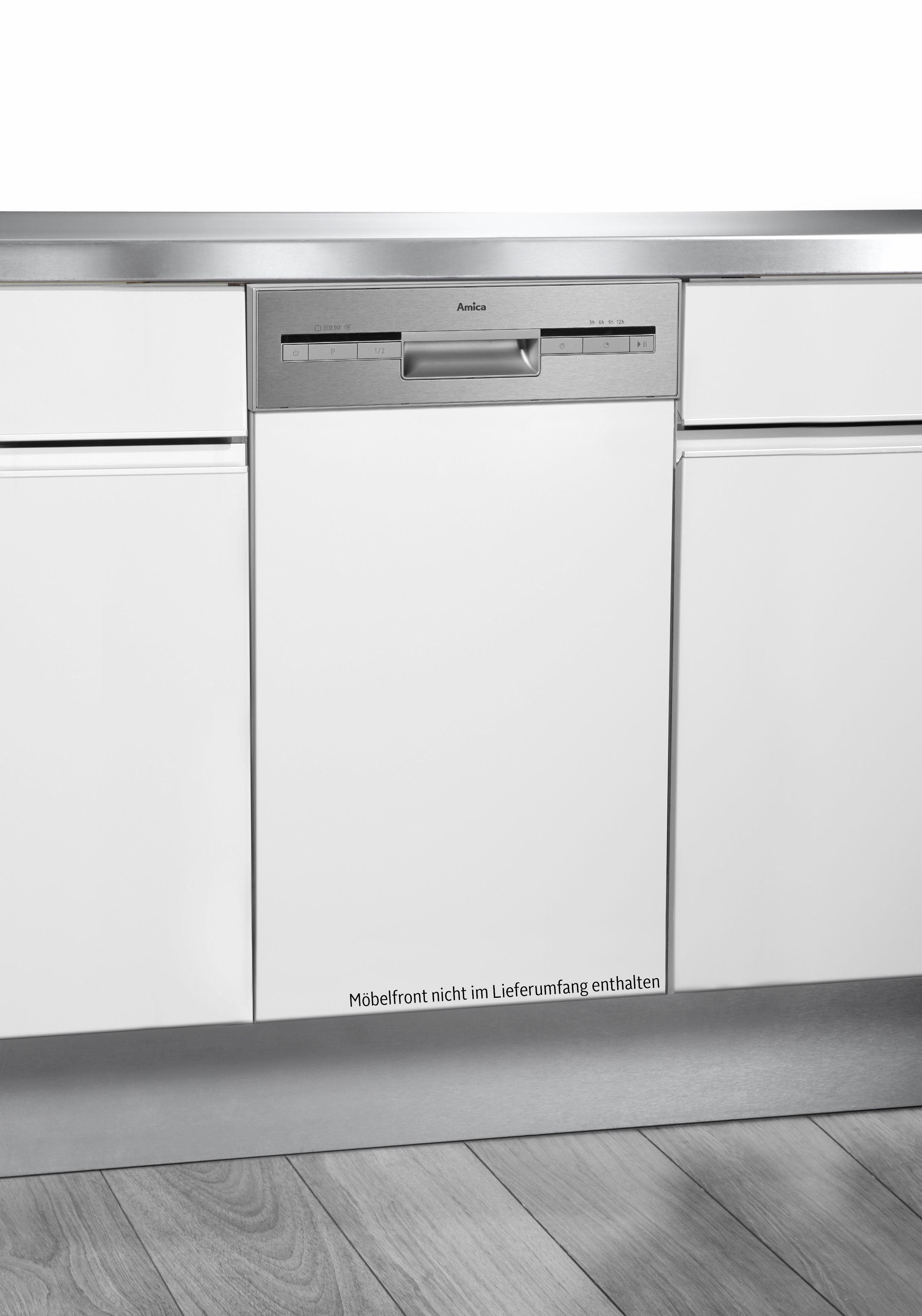 Amica teilintegrierbarer Geschirrspüler, EGSP 14695 E, 9,5 l, 9 Maßgedecke, 45 cm breit