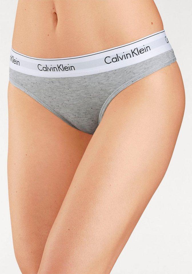 Damen Calvin Klein String modern cotton grau   08718935885266