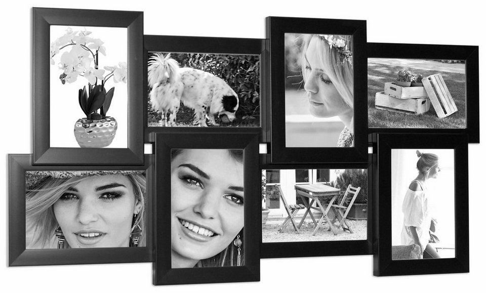 home affaire bilderrahmen f r 8 bilder 8 bilder 10 15 cm. Black Bedroom Furniture Sets. Home Design Ideas
