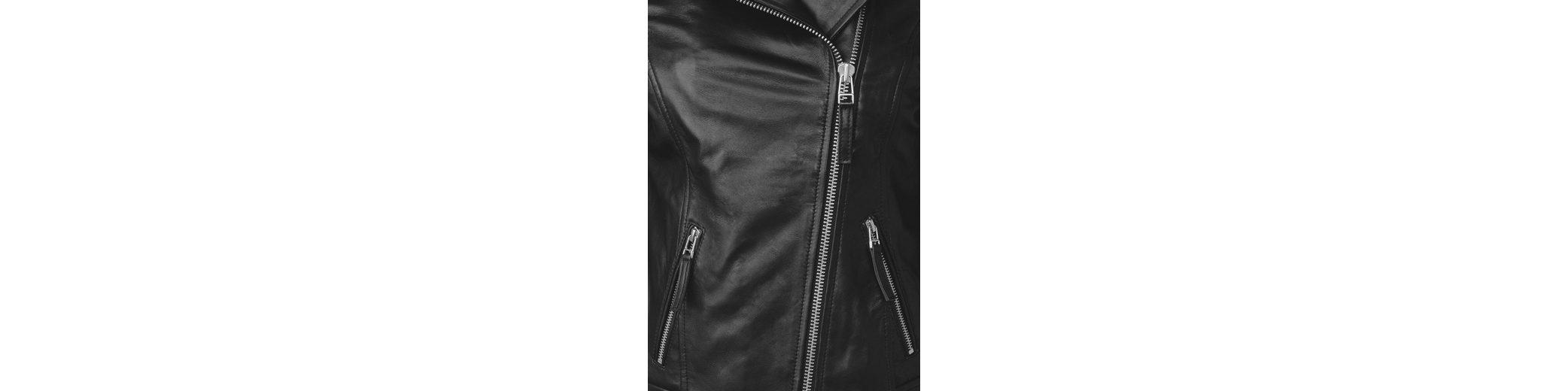 CECIL Biker Style Leder Jacke Neueste syBNTrZG4N