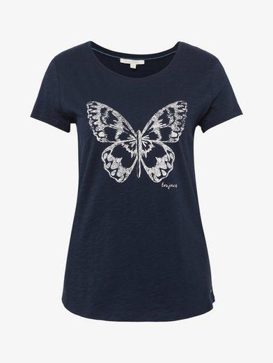 Tom Tailor Denim T-Shirt T-Shirt mit Schmetterlings-Print