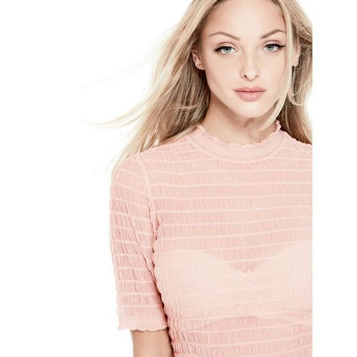 Guess Shirt Transparenter Stoff