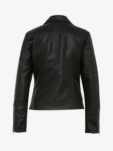 Tom Tailor Bikerjacke Bikerjacke in Leder-Optik