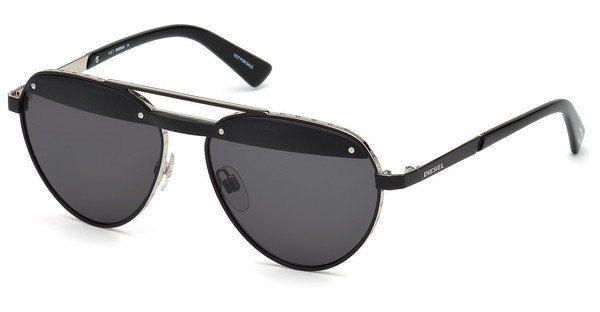 Diesel Sonnenbrille » DL0261«, schwarz, 02A - schwarz/grau