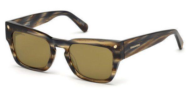 Dsquared2 Sonnenbrille » DQ0299«, braun, 52N - braun/grün