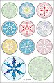 Folia Sticker »Weihnachtszeit«, 44 Stück, Bild 4