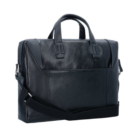 Piquadro Pan Briefcase Leather 37 Cm Compartment