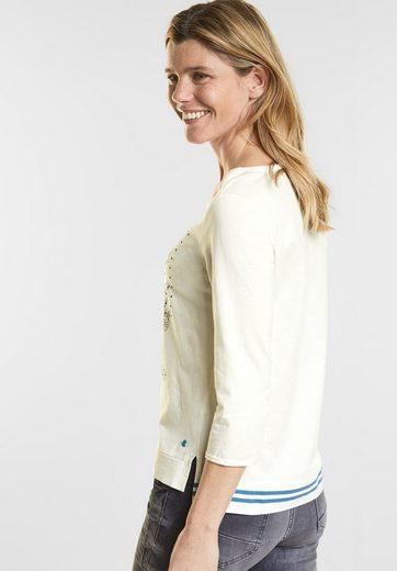 CECIL Print und Nieten Shirt