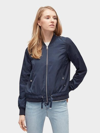 Tom Tailor Denim Bomberjacke unifarbige Bomberjacke