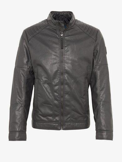 Tom Tailor Faux Leather Jacket Biker Jacket In Leather Optics