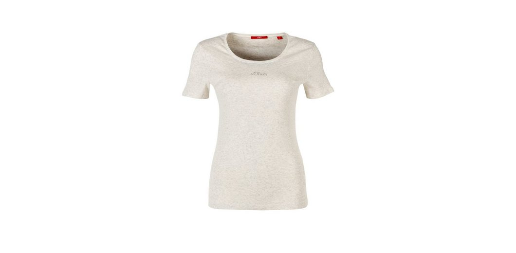 LABEL Shirt Basic aus Jersey Basic RED Oliver s s Oliver RED LABEL 4aWnzqt