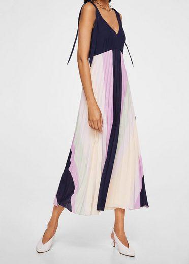 MANGO Kleid mit Plisseerock