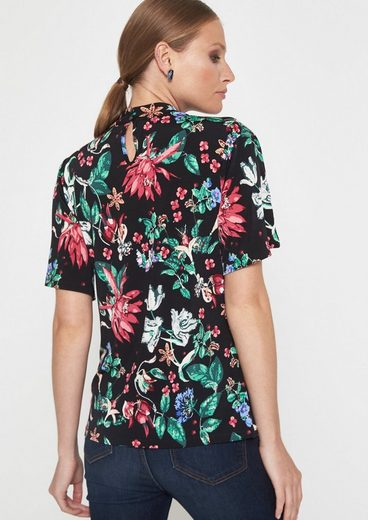 COMMA Kurzarmshirt mit farbenprächtigem Alloverprint