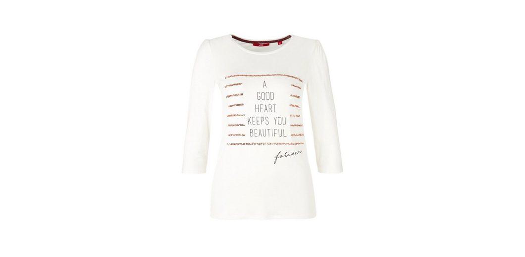 Billig Verkauf Bestes Geschäft Zu Bekommen Günstig Kaufen Erkunden s.Oliver RED LABEL Printshirt mit Pailletten Niedrige Versand Online oGlArCxSj