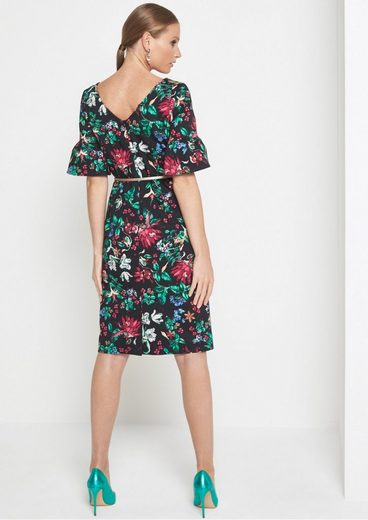 COMMA Freizeitkleid mit farbenprächtigem Floral-Allovermuster