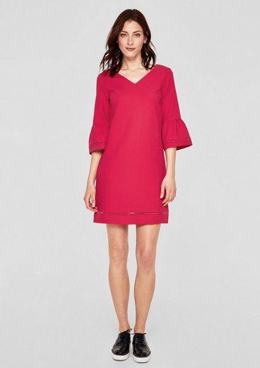 s.Oliver RED LABEL Kleid mit Crochet-Spitze