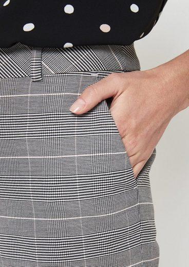 COMMA Businesspants mit klassischem Glencheck-Muster