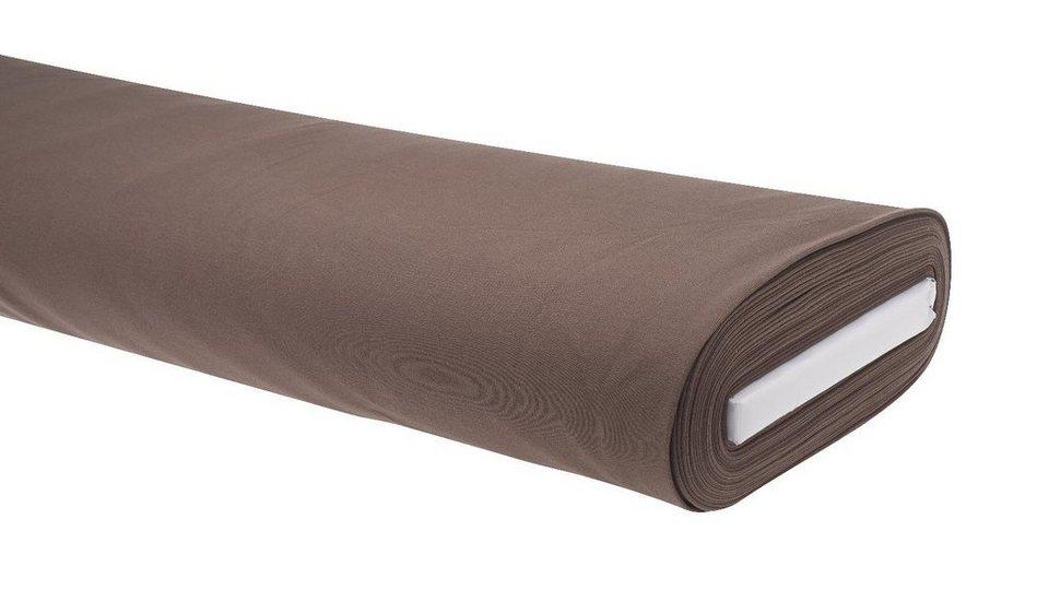 """Jersey-Stoff Uni """"Dunkelbraun"""" 158 cm breit (Meterware) online kaufen"""