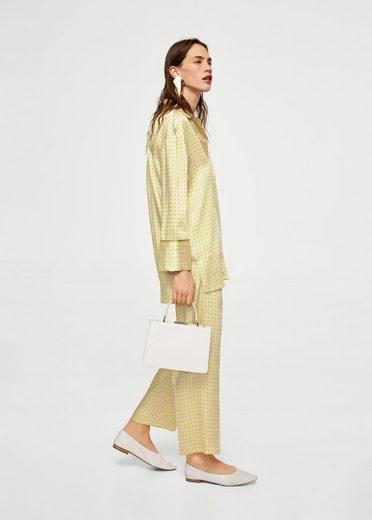 Mango Patterned Shirt In Pajama-optics