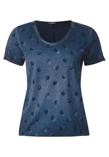 CECIL Oilwash Punkte Shirt Jasmina