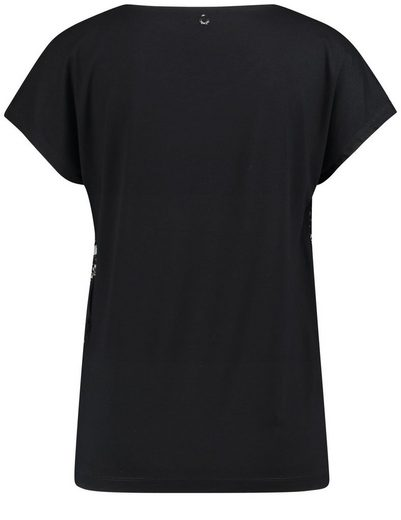 Taifun T-Shirt Kurzarm Rundhals Blusenshirt mit Blumen-Print