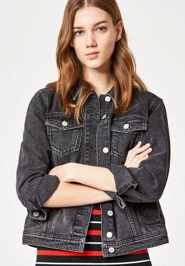 Huber Hall Denim Jacket With Constrictions