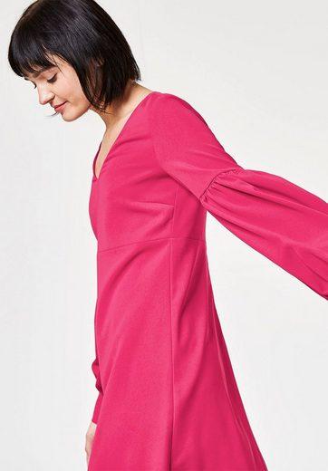 HALLHUBER A-Linien-Kleid mit Volumenärmeln