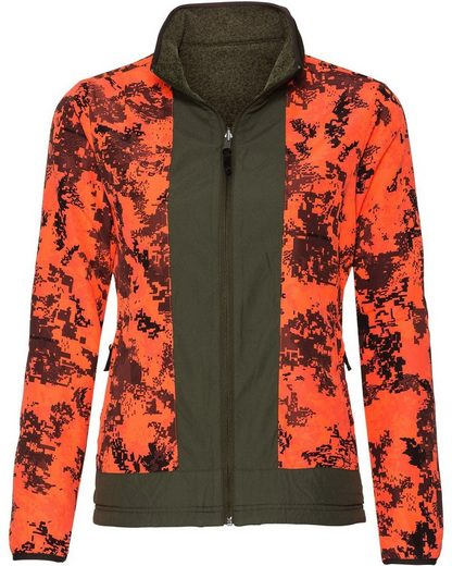 Parforce Damen Wendejacke Robuststrick + Signalfarbe