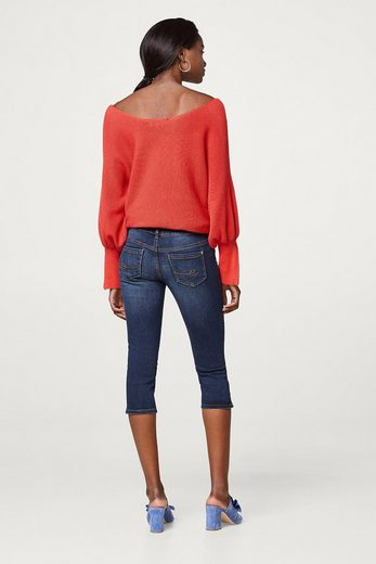 EDC BY ESPRIT Softe Stretch-Jeans in Capri-Länge