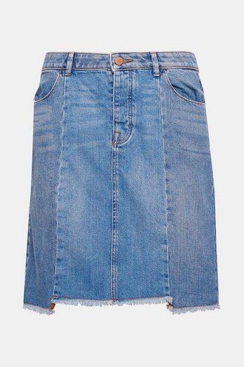 EDC BY ESPRIT Lässiger Jeans-Rock aus 100% Baumwolle