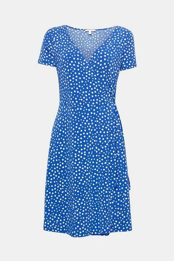 ESPRIT Verspieltes Kleid in Wickel-Optik mit Polka Dots