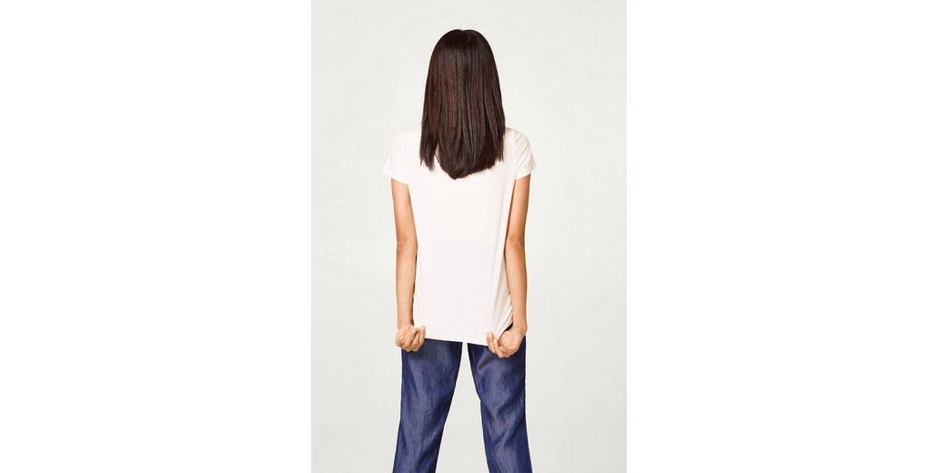 Verkauf In Mode ESPRIT Baumwoll T-Shirt mit Vogel-Print Billig Verkauf 100% Authentisch Billiger Fabrikverkauf iqjmPn