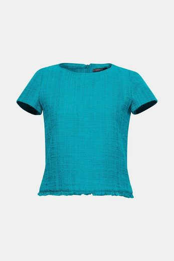 Esprit Collection Blouse-top Of A Striking Bouclé