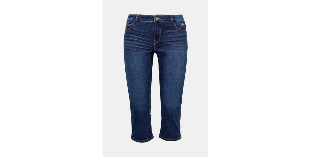 EDC BY ESPRIT Softe Stretch-Jeans in Capri-Länge Billig Verkauf Vermarktbare MW3zJ4OPmY