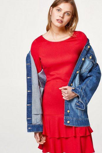 ESPRIT Jersey-Minikleid mit Volant-Besatz am Saum