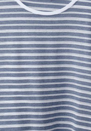 CECIL Shirt mit Ajour Streifen