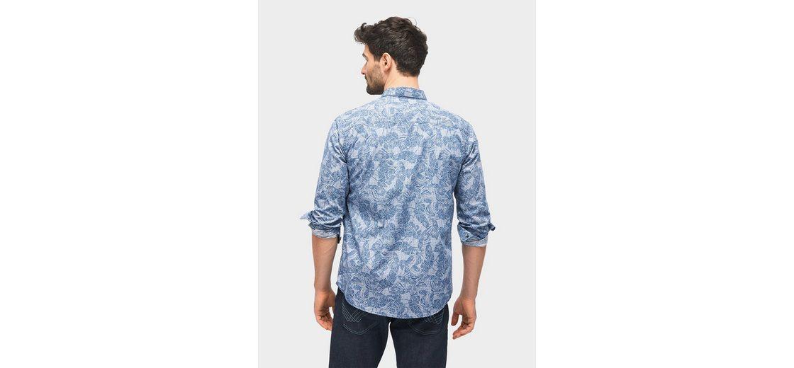 Steckdose Versorgungs Auslass Viele Arten Von Tom Tailor Hemd gemustertes Hemd mit Brusttasche Steckdose Am Besten Ausgezeichnete Online BLzrB