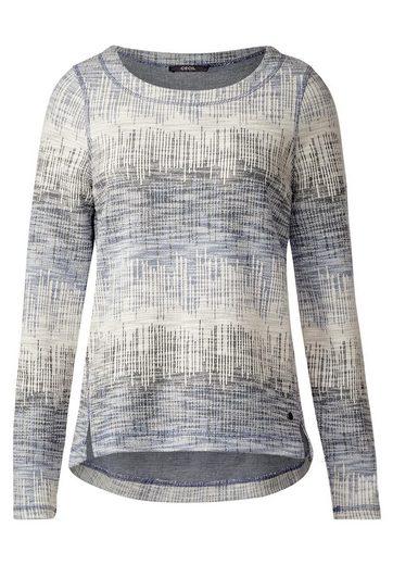 CECIL Weiches Jacquard Sweatshirt