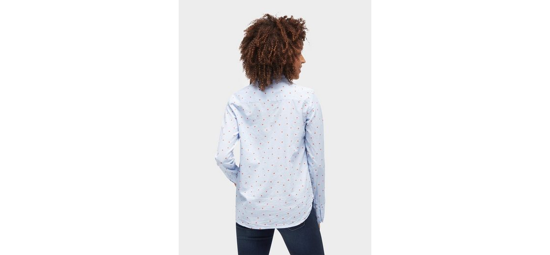 Tom Tailor Langarmbluse Bluse mit Motiv-Print Billig Verkauf Fabrikverkauf shCQVEU