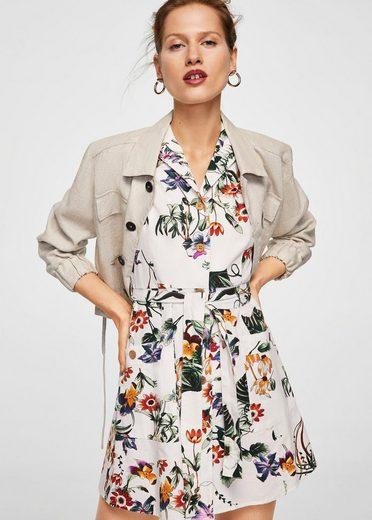 MANGO Kleid mit abnehmbarem Gürtel