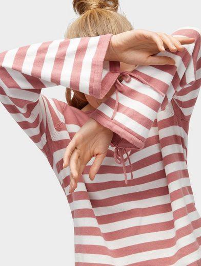 Tom Tailor Denim Rundhalspullover gestreiftes Langarmshirt